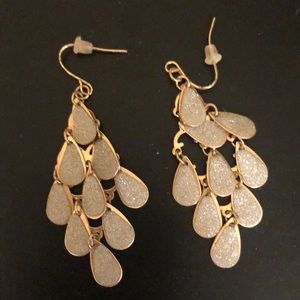 Gold and silver holiday style earrings